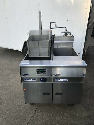 pitco pasta cooker with rinse satation 3 phase