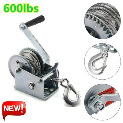 Secure Fix Direct 1200Lb 540Kg Hand Winch Stainless Steel Trailer ...