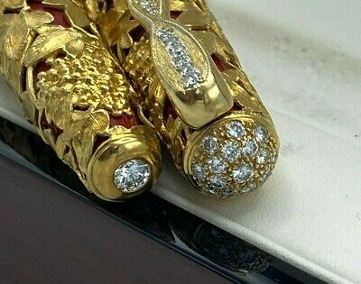 $75K Caran d' Ache Riviera Fountain Pen 18K Solid Gold and Huge Diamond 1/1 made