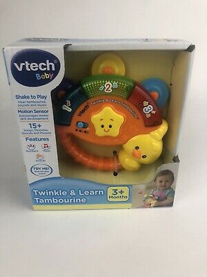 Vtech Baby Twinkle & Learn Tambourine Discontinued Shake Play Numbers Music