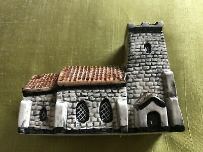 Tey Pottery (believed to be), Britain in Miniature #13 Square Tower Church