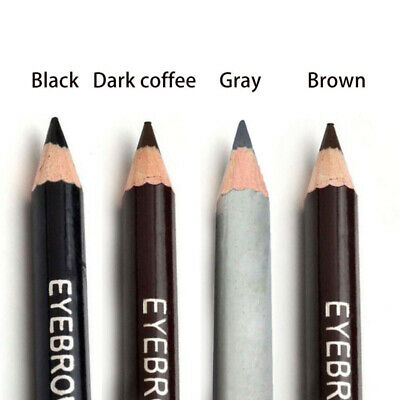 Cosmetic Brown Waterproof Makeup Pencil Eyebrow Brush With 2-in-1 Liner Tool