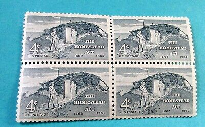U.S. STAMP-[Block of 4]--HOMESTEAD ACT--(1962)--Scott#1198--<unused>