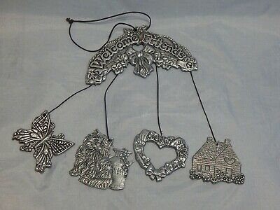 Carson Pewter Welcome Friends Wind Chimes