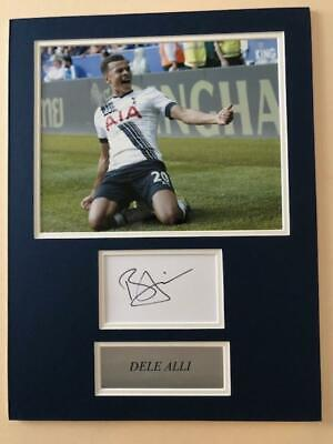 Dele Alli 'Spurs' signed & mounted - COA - SALE ITEM