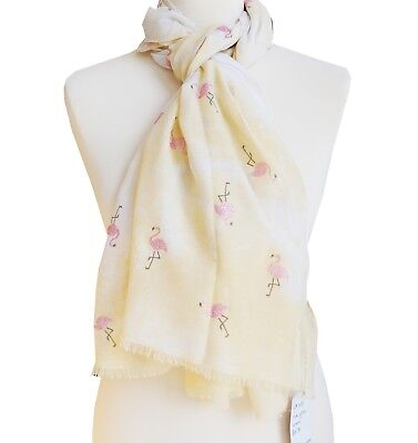 Ladies Flamingo tassel scarf sarong cotton mix COLOUR OPTIONS stocking filler