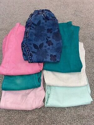 Girls Mixed Trousers Age 2-3 Years X7 Items Bundle
