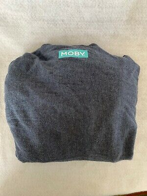 Moby Wrap Baby Carrier Carries 8 - 35 Pound Babies Slate Gray Excellent!