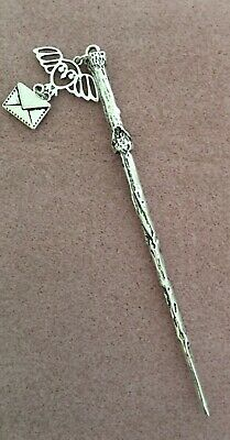 Harry Potter Wand Bookmark Hedwig & letter Charm