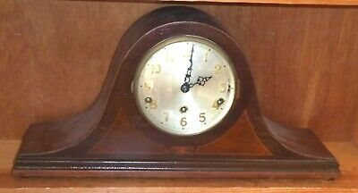 Antique Napoleon Hat style Westminster chime mantel clock, works but no pendulum