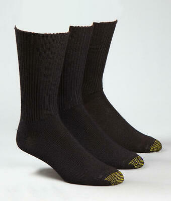 Gold Toe Fluffies Crew Socks 3-Pack Hosiery - Men's #523S