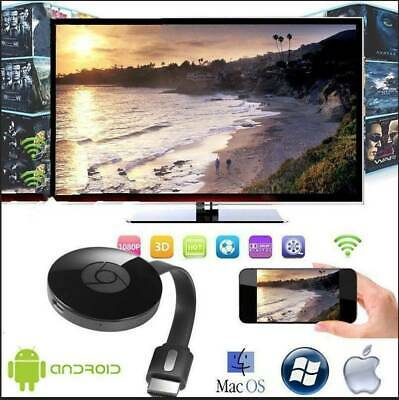 Chromecast Wireless Mirascreen Hdmi Display Dongle Media Video Streamer Tv Game