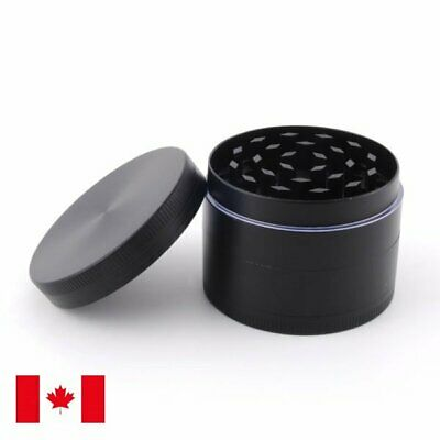 Black Zinc Alloy 4 Layer 50mm Spice Herb Grinder w/ Scraper