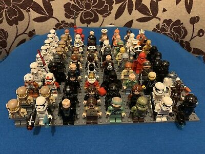 Genuine Lego Star Wars Minifigures Job Lot Of 70 Figures With Some Weapons.