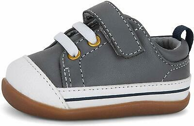 See Kai Run Kids' Stevie II INF First Walker Shoe, Gray Leather, Size 5 Infant