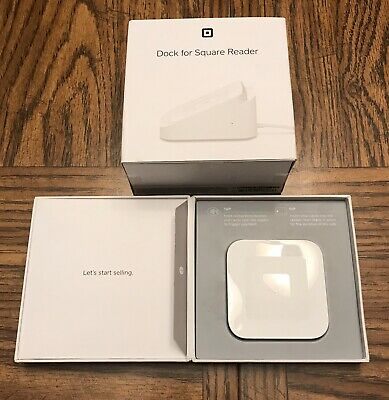 Square A-SKU-0113 Contactless Credit Card and Chip Reader - White and Dock