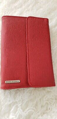Book of Days Red Bi-fold Binder Personal Compact Planner, 6 rings