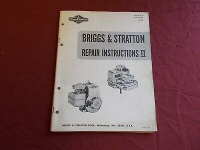 Vgt 1970 Briggs & Stratton Engine Repair Insrtuctions Manual Go Kart Mower