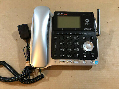 AT/&T TL86109 DECT 6.0 Bluetooth 2-Line Corded Telephone  for TL86009