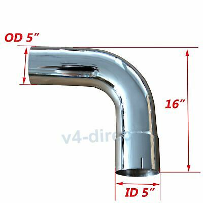 "Steel 5/"" ID OD 90 Degree Exhaust Elbow Pipe with 19.5/"" Arms 16 Ga"