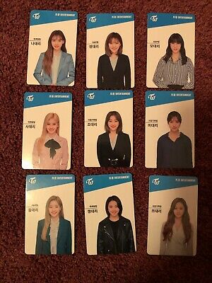 Twice Once FanClub Generation 3 Member Photocards