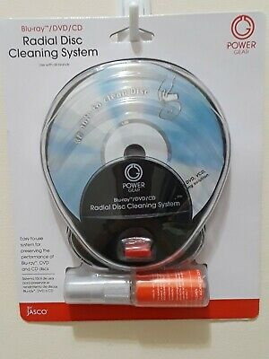Jasco Power Gear Radial Disc Cleaning System BLU-RAY/DVD/CD  NEW