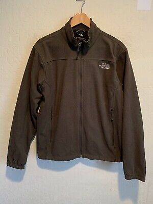 The North Face Men's Full Zip Fleece Jacket Size MEDIUM Gray Zipped Pockets