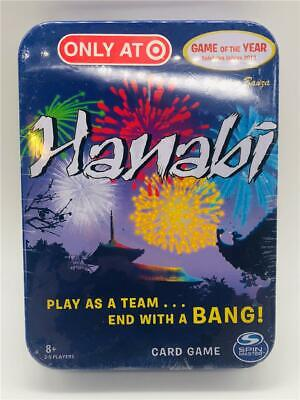 New Hanabi Card Game by R&R Games Target Exclusive in Metal Tin Box Travel Case!
