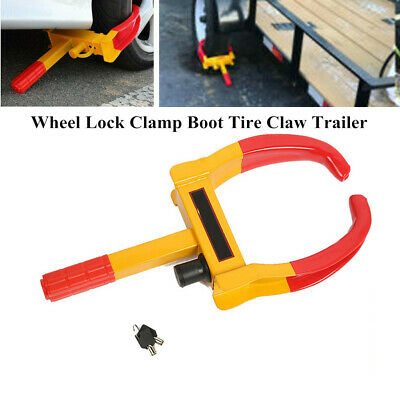 Wheel Lock Clamp Boot Tire Claw Trailer Car Truck Anti-Theft Towing Protector