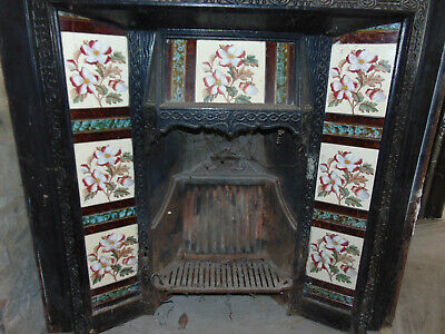 Most Beautiful And Perfect Cast Iron Fireplace Insert Magnificent Tiles Antique