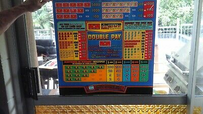 poker machine display panel double pay 50 mmx45mm suit games room man cave