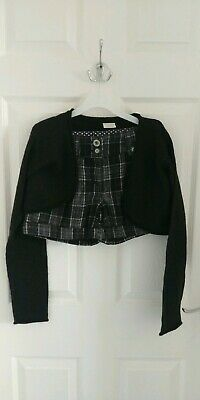 Next Girls Black Shorts And Bolero Set Outfit 11 Years Old