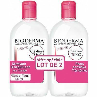 BIODERMA Créaline TS H2O 2x500ml Solution Micellaire