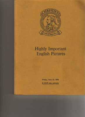 Christies 1978 Highly Important English Pictures