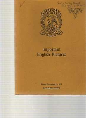 Christies 1977 Important English Pictures