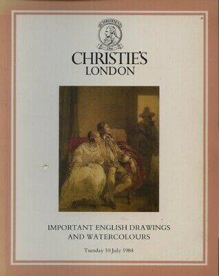 Christies July 1984 Important English Drawings and Watercolours