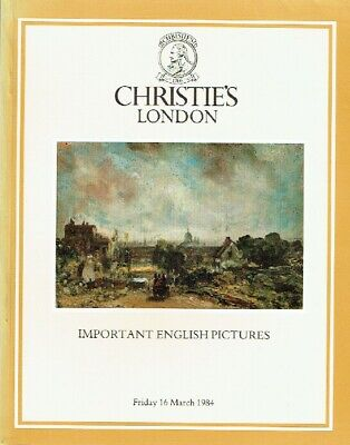 Christies March 1984 Important English Pictures