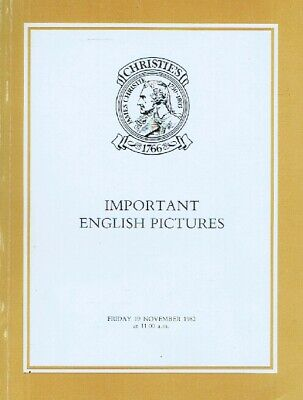 Christies November 1982 Important English Pictures