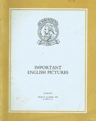 Christies April 1983 Important English Pictures