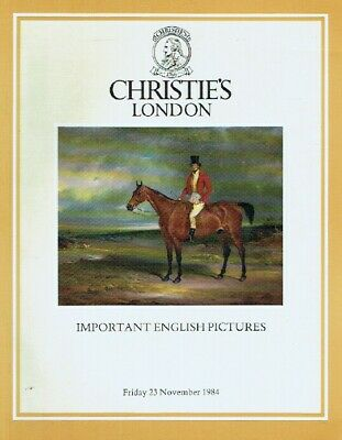 Christies November 1984 Important English Pictures