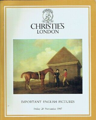 Christies November 1987 Important English Pictures