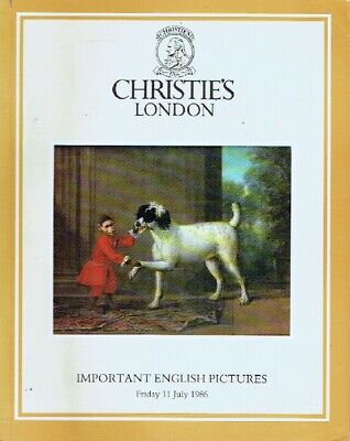 Christies July 1986 Important English Pictures