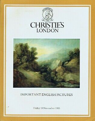 Christies November 1983 Important English Pictures