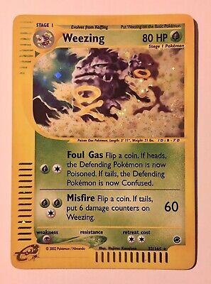 Weezing 32/165 Rare Holo Pokemon Expedition (2002) Plus Koffing 6 Card Lot