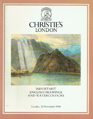 Christies November 1984 Important English Drawings and Watercolours