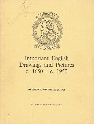 Christies November 1964 Important English Drawings and Pictures (1650-1950)