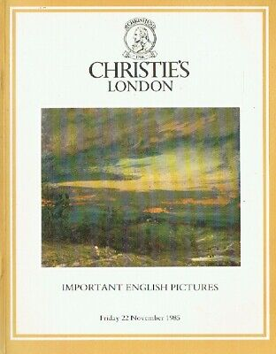 Christies November 1985 Important English Pictures