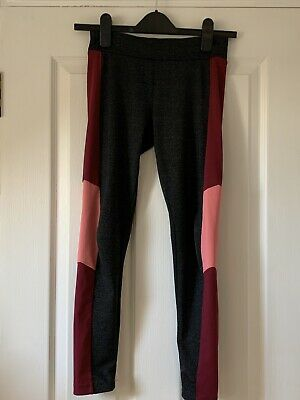 Grey / Pink Active Wear Dance Leggings Age 10-11