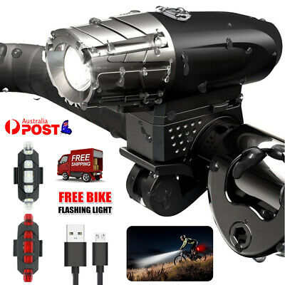 Tail Rechargeable USB Bike 5 LED Light Cycling Warning Safety Bicycle Rear Light