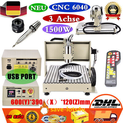 USB 3Axis CNC 6040 Router Engraver Metal Working Engraving Machine + RC